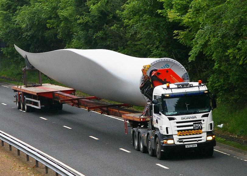 Rüzgar Türbini Ekipmanlarının Taşınması