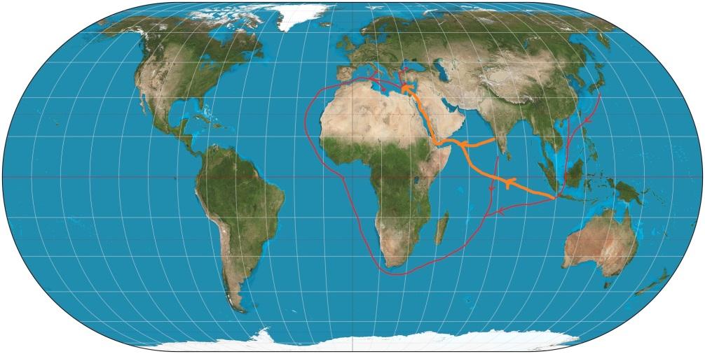 Dünya Haritası - Süveyş Kanalı