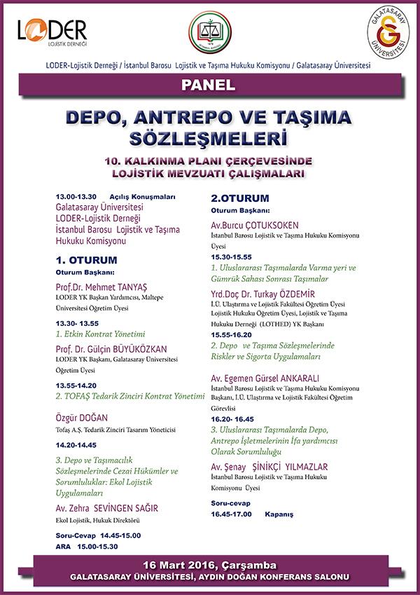 Depo, Antrepo ve Taşıma Sözleşmeleri Paneli